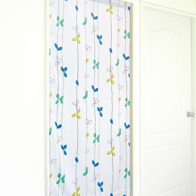 布安於室-落葉遮光風水簾-藍綠色