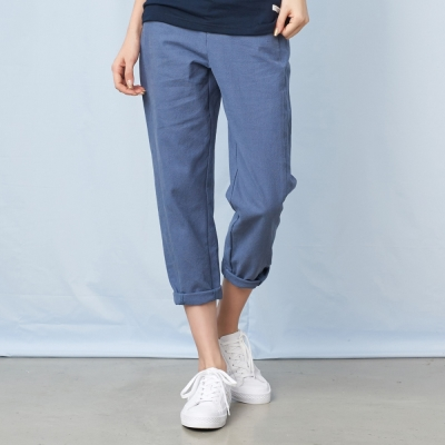 CACO-剪裁型休閒長褲-女