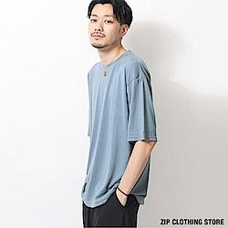 五分袖寬版T恤(11色) ZIP日本男裝