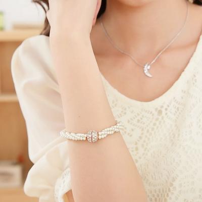 微醺禮物 水鑽 人造珍珠 韓風 質感百搭 手鍊