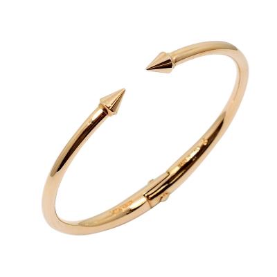 VITA FEDE義大利品牌 鉚釘玫瑰金色C式細手環手鍊