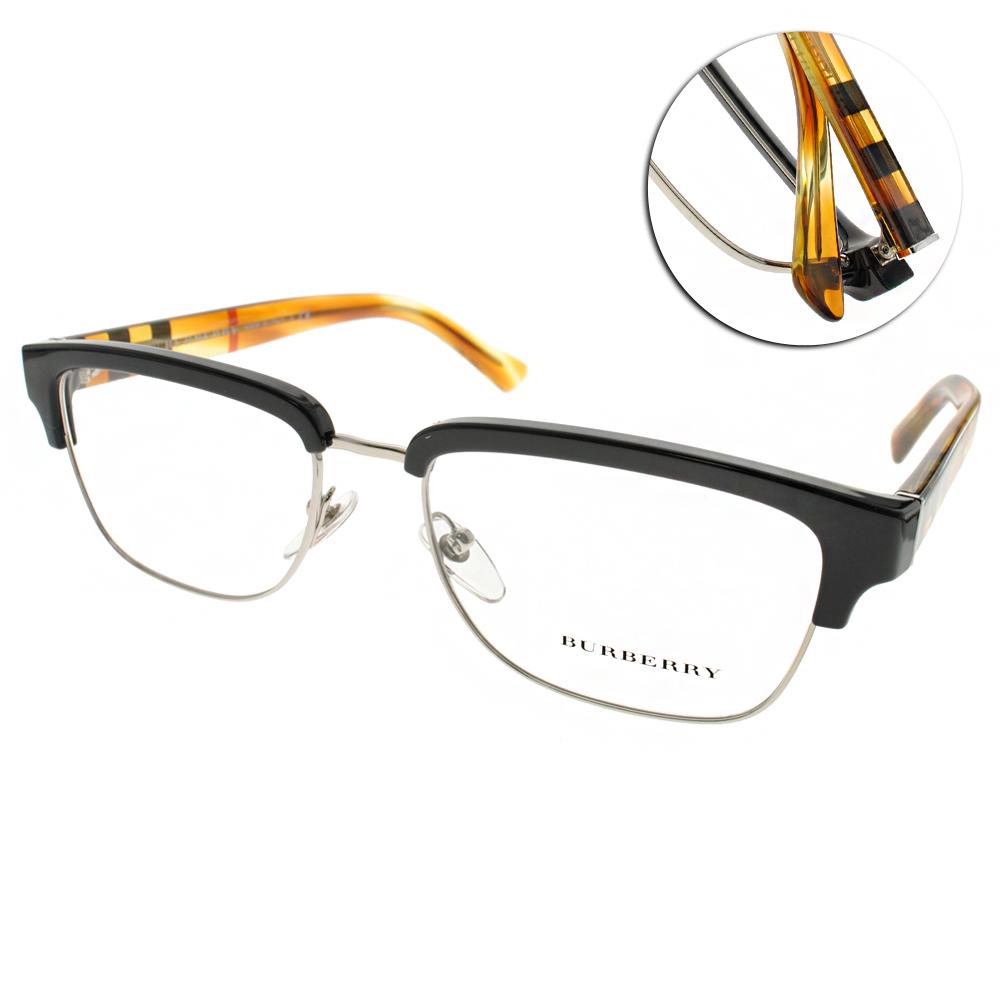 BURBERRY眼鏡 沉穩眉框/黑-透琥珀#BU2224 3604