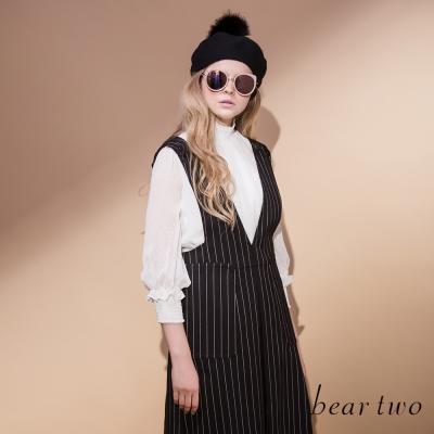 beartwo-浪漫雪紡高領造型上衣-共二色