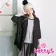 betty-s貝蒂思-七分袖西裝大衣-黑色