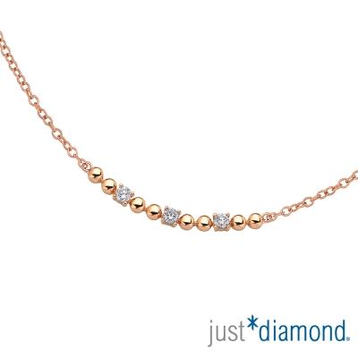 Just Diamond Rosy Rain系列玫瑰金項鍊