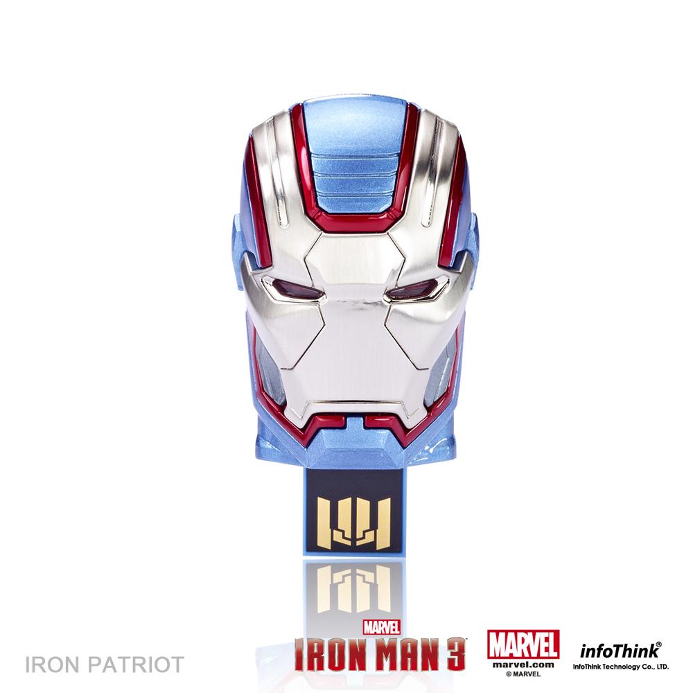 InfoThink 鋼鐵人3造型隨身碟 - Iron Patriot愛國者16GB
