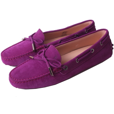 TOD'S Gommino 經典綁帶豆豆休閒鞋(羅蘭紫)