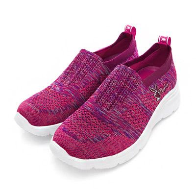 PLAYBOY動感甜心 流線針織輕量休閒鞋-紫