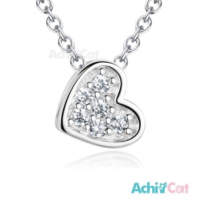 AchiCat 925純銀項鍊 可愛愛心 鎖骨鍊