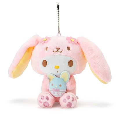 Sanrio 美樂蒂裝扮長耳兔造型玩偶吊鍊(好朋友彩蛋)