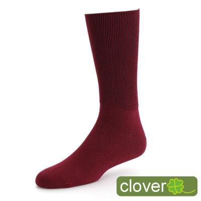 Clover 專利健康萊卡寬口除臭紳士襪(紅)