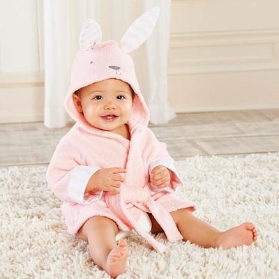 Baby Aspen  粉色兔子浴袍