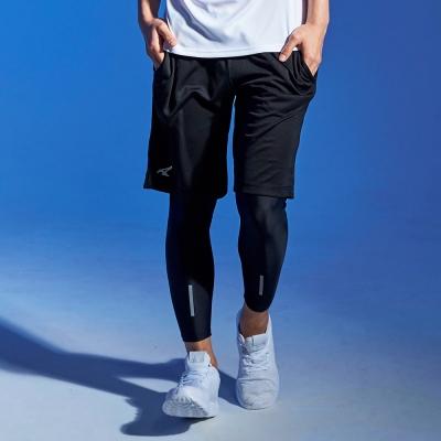 【AIRWALK】吸排織帶腰頭籃球褲-黑