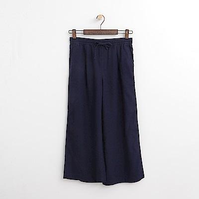 Hang Ten - 女裝 - 綁帶設計寬褲-深藍色