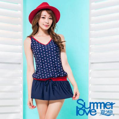 夏之戀SUMMERLOVE 比基尼泳裝 連身裙二件式 海洋風