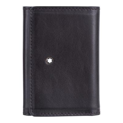 萬寶龍傳承系列牛皮三摺式9卡名片夾
