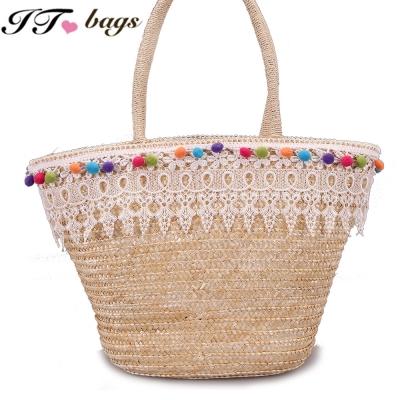 It Bags 側肩包 愛琴島蕾絲彩球編織肩背包 共一色