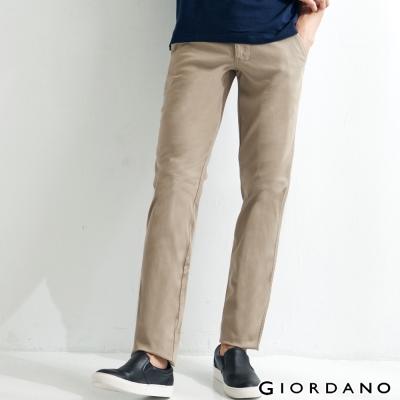 GIORDANO-男裝低腰修身窄管彈性休閒褲-12