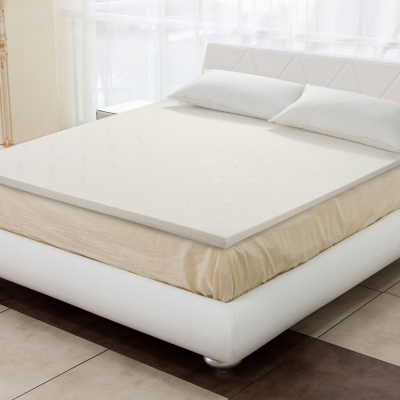 幸福角落 天絲舒柔布5cm乳膠床墊-雙人加大6尺