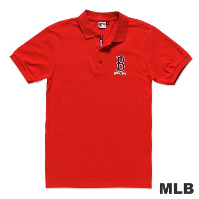 MLB-波士頓紅襪隊電繡POLO衫-紅(男)