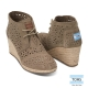 TOMS 麂皮洞洞高跟靴-女款(咖啡) product thumbnail 1