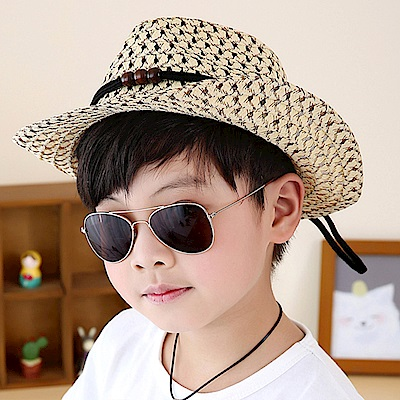 iSFun 透氣草帽 中性兒童編織遮陽帽 3色可選