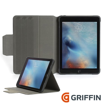 Griffin SnapBook iPad 9.7(2017)可拆卸式防摔保護套-黑色