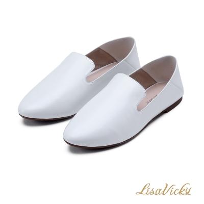 LisaVicky親子2way休閒後踩超軟懶人樂福鞋-白色
