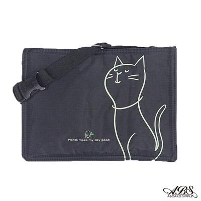ABS愛貝斯 旅行貼身防搶內腰包 Hot Cats日系優雅辣貓(黑)7800-39