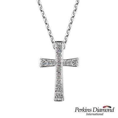 PERKINS 伯金仕 - 十字架系列 0.15克拉鑽石項鍊