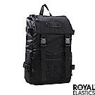 Royal Elastics - 撞色潮流休閒後背包 Light輕盈羽量系列 -黑