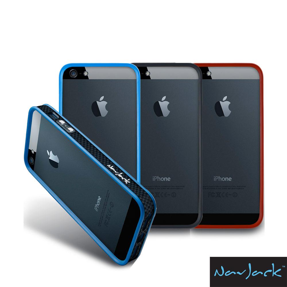 NavJack Trim 系列 iPhone5/5S 碳纖紋路保護框