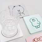【line授權】珪藻土和風系列杯墊/皂盤