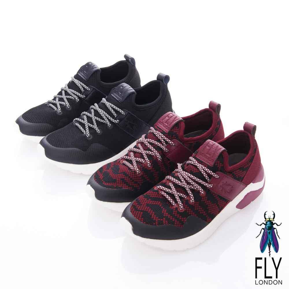 Fly London(女) My way 極度個性輕量都會運動鞋- 速黑