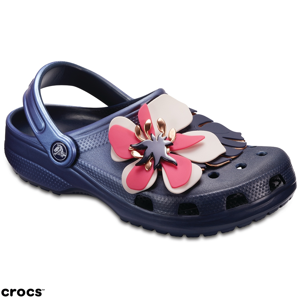 Crocs 卡駱馳 (中性鞋) 經典花朵克駱格 205248-410