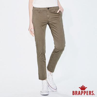 BRAPPERS 女款 LC-Cargo系列-彈性低腰休閒八分褲-綠
