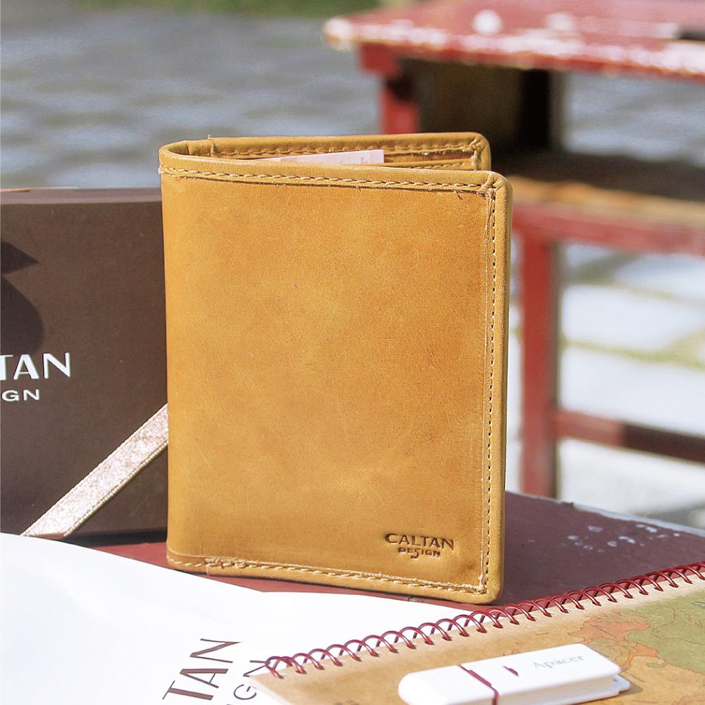 CALTAN-男用 短夾 真皮 男夾 皮夾 鈔票夾 卡夾 信用卡-2046ht