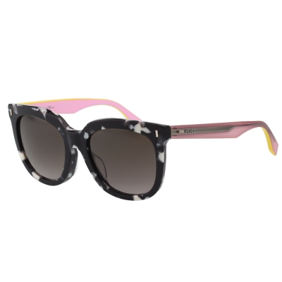 FENDI-時尚造型太陽眼鏡-黑白石紋-FF018