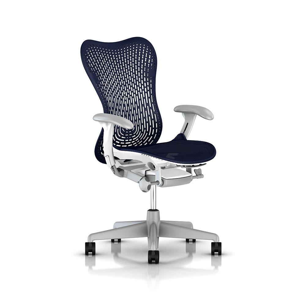 Herman Miller Mirra 2人體工學椅全新進化改版-白框系列優雅藍