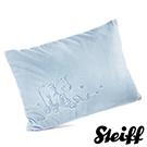 STEIFF德國金耳釦泰迪熊 - 嬰幼兒 枕頭 水藍x白色 40x30cm