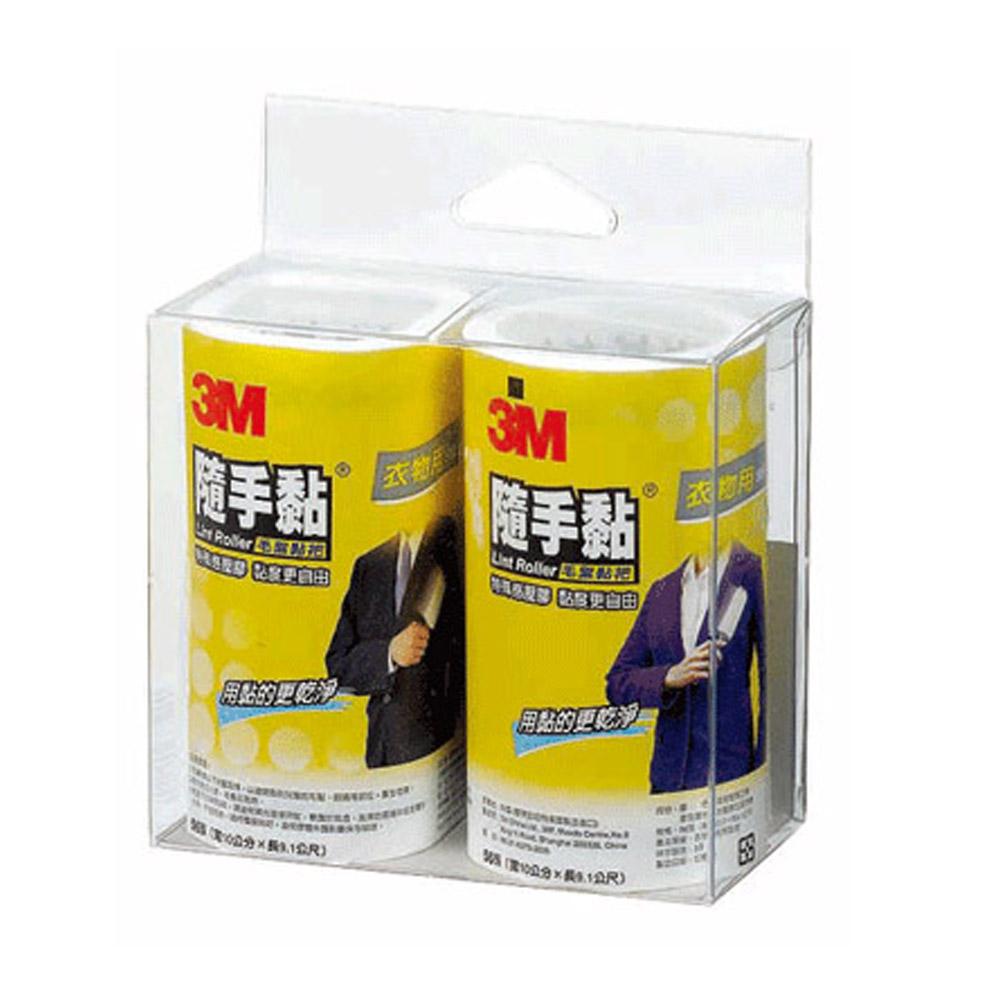 3M 隨手黏-衣物用毛絮黏把補充包(56張 × 2捲)