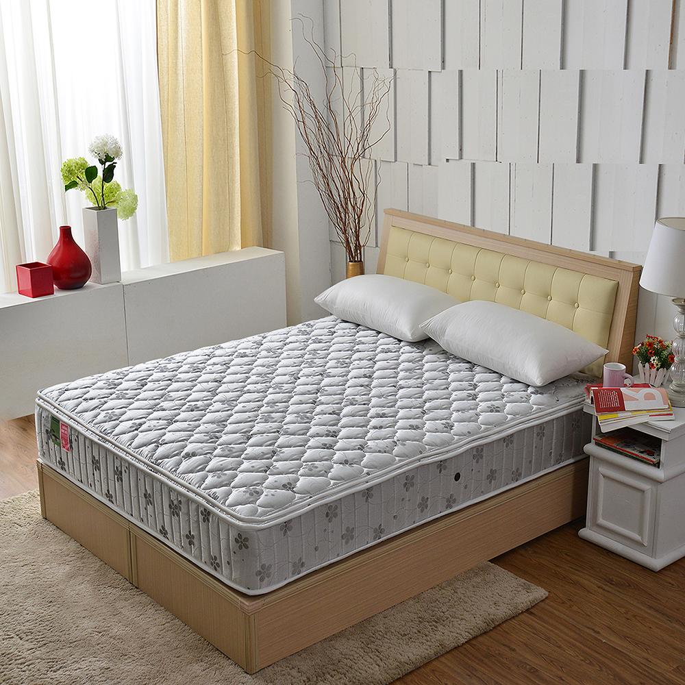 MG珍寶-正三線乳膠竹碳抗菌除臭防潑水抗菌蜂巢獨立筒床-單人3.5尺-護腰床