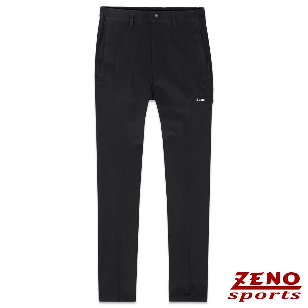 ZENO 四面彈力防水保暖鬆緊長褲‧黑色M~3L