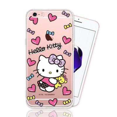 HELLO KITTY iphone 6s Plus 彩繪空壓手機殼-娃娃