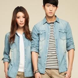 Hang Ten - 個性牛仔襯衫-藍