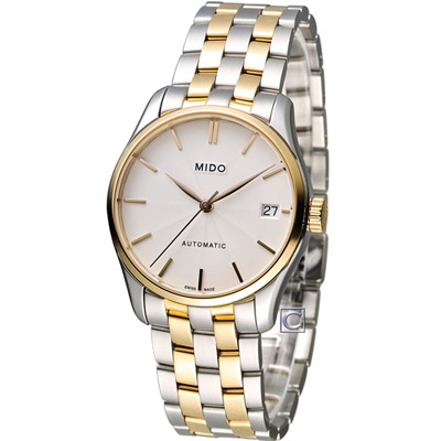 MIDO Belluna ll 永恆優雅80小時動力儲存機械錶-銀/33mm