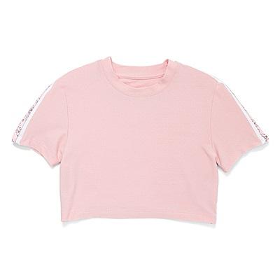 CONVERSE-女短T恤10008671-A02-粉紅