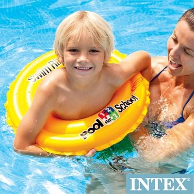 INTEX 游泳學校POOL SCHOOL-STEP 2游泳圈3-6歲 (58231)
