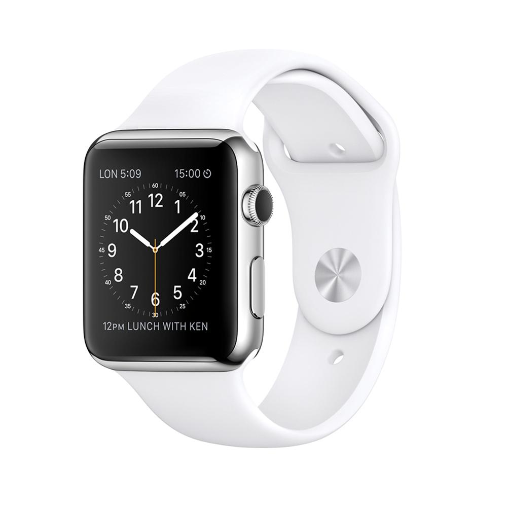 Apple Watch 42mm 不鏽鋼錶殼 運動錶帶 智慧手錶