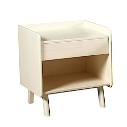 AT HOME-潔西卡北歐白木色床頭櫃(50*45*55cm)